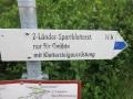 sign to the via ferrata Zweiländer Sportkletterteig Kanzelwand