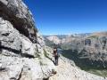 trail to the beginning of via ferrata Furcia Rossa