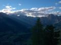 view down to Cortina