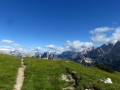 hiking from Rifugio Faloria to Lago di Sorapis